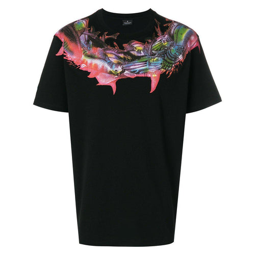 MARCELO BURLON Fish T-Shirt, Black-OZNICO