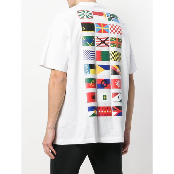 MARCELO BURLON Flags T-Shirt, White/ Multi-OZNICO