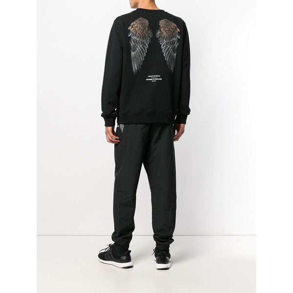 MARCELO BURLON Heart Wings Crewneck, Black-OZNICO