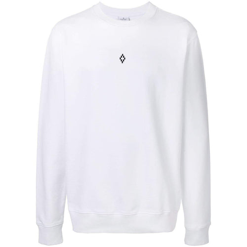 MARCELO BURLON Heart Wings Crewneck, White-OZNICO
