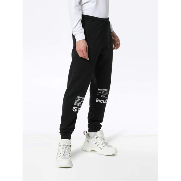 MARCELO BURLON Logo Print Drawstring Sweatpants, Black/ Multi-OZNICO