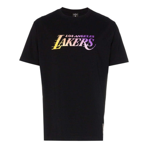 MARCELO BURLON Los Angeles Lakers T-Shirt, Black-OZNICO