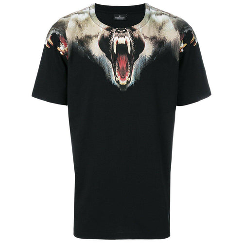 MARCELO BURLON Monkeys T-Shirt, Black-OZNICO