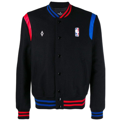 MARCELO BURLON NBA Bomber Jacket, Black-OZNICO