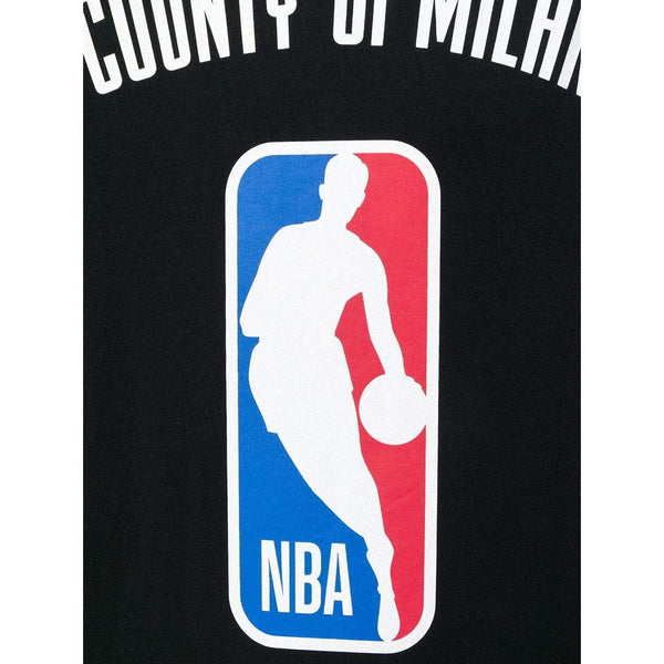 MARCELO BURLON NBA T-Shirt, Black-OZNICO