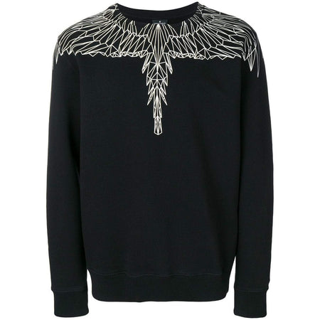 MARCELO BURLON Wings Print Hoodie, Black/ Orange