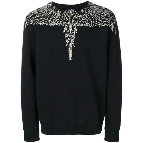 MARCELO BURLON Neon Wings Crewneck, Black-OZNICO