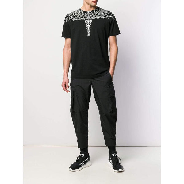 MARCELO BURLON Neon Wings T-Shirt, Black-OZNICO