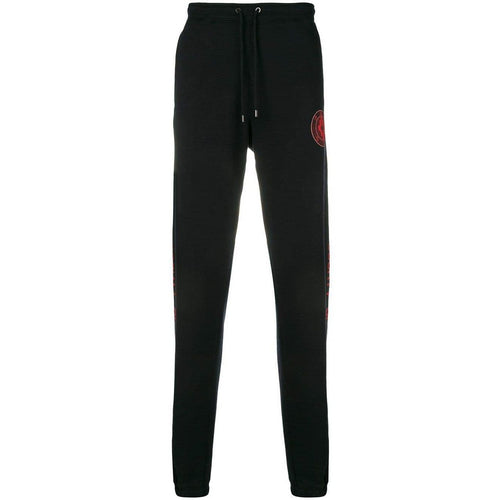 MARCELO BURLON Never Sleep Sweatpants, Black-OZNICO