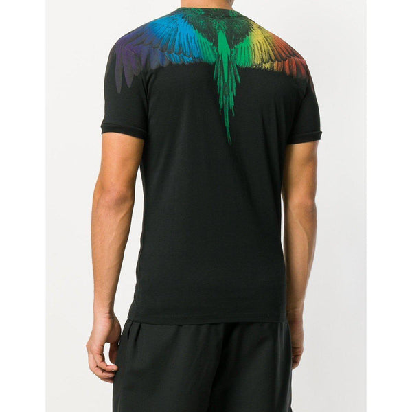 MARCELO BURLON Rainbow Wings T-Shirt, Black-OZNICO