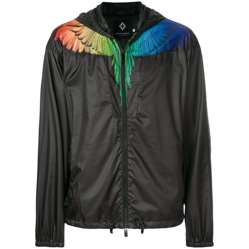 MARCELO BURLON Rainbow Wings Windbreaker, Black-OZNICO