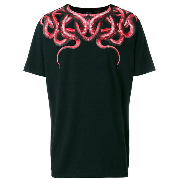 341fd7e0 MARCELO BURLON Snake T-Shirt, Black/ Red-OZNICO ...