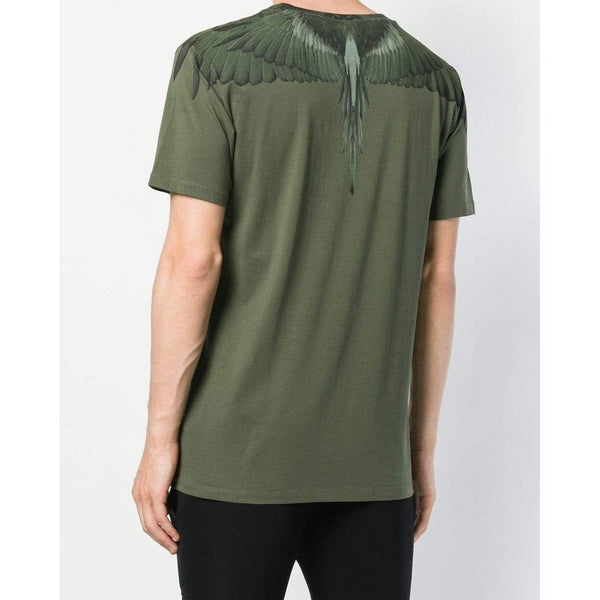 MARCELO BURLON Wings Printed T-Shirt, Green-OZNICO
