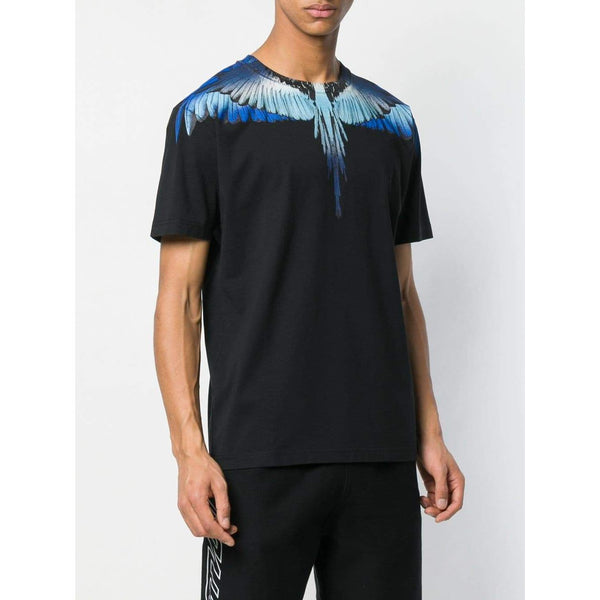 MARCELO BURLON Wings T-Shirt, Blue-OZNICO