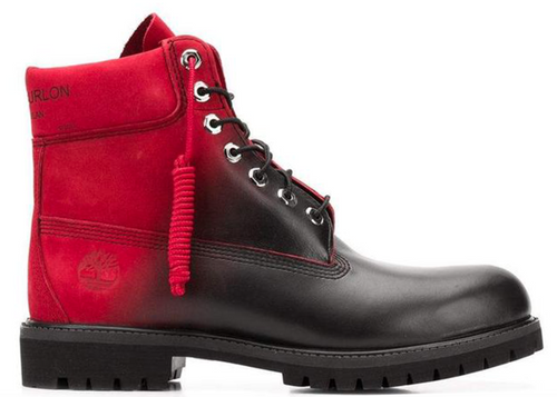 "MARCELO BURLON X TIMBERLAND 6"" Color Contrast Boots, Black/ Red-OZNICO"