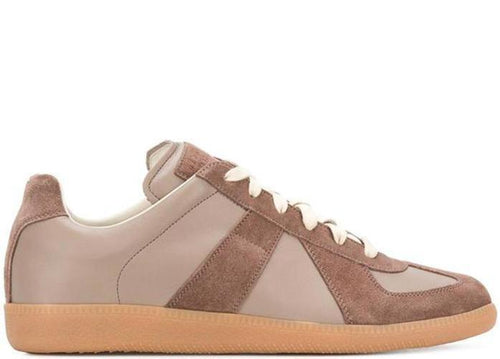 MASION MARGIELA Replica Low Trainer, Brown Suede-OZNICO
