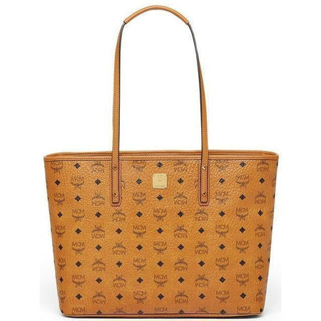 MCM Liz Large Reversible Shopper, Cognac
