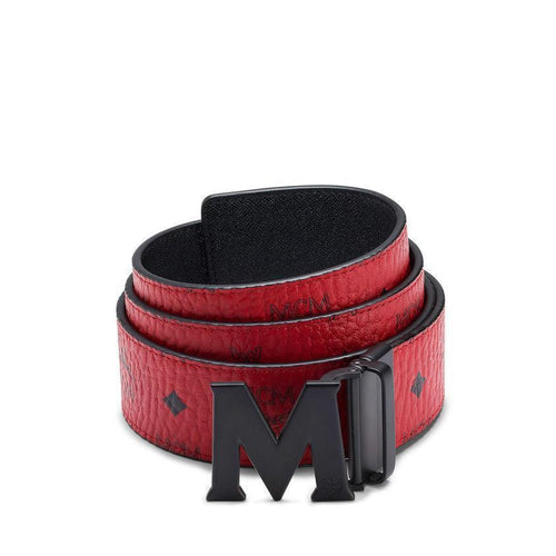 "MCM Claus Reversible Belt 1.75"", Ruby Red-OZNICO"