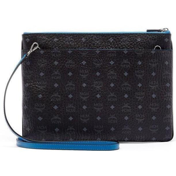 MCM Color Visetos Crossbody Pouch, Black-OZNICO