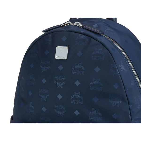 MCM Dieter Teardrop Backpack in Monogram Nylon, Navy-OZNICO