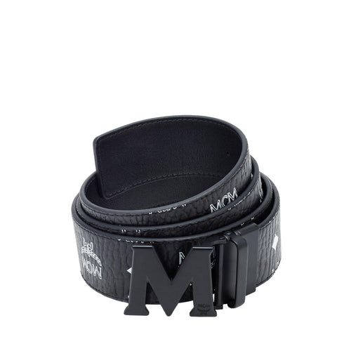 "MCM Flat M Reversible Belt 1.75"" in Visetos, Black-OZNICO"