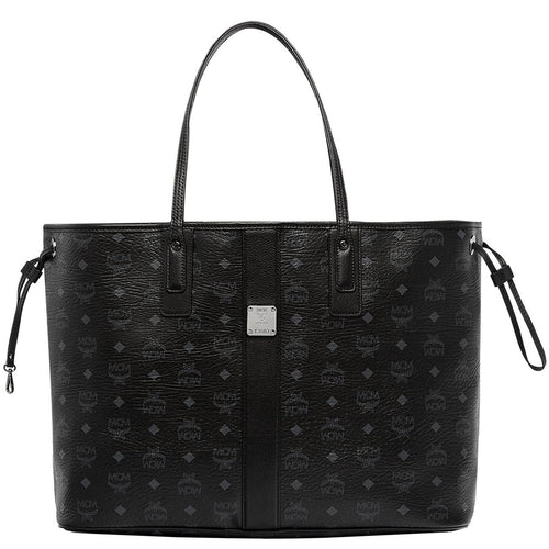 MCM Large Liz Reversible Shopper, Black-OZNICO