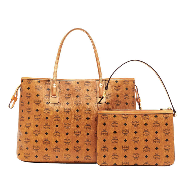 MCM Large Liz Reversible Shopper, Cognac-OZNICO