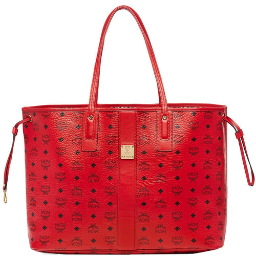 MCM Large Liz Reversible Shopper, Ruby Red-OZNICO