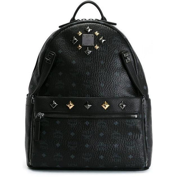 MCM Medium Dual Stark Backpack, Black-OZNICO