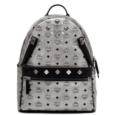 MCM Medium Dual Stark Backpack, Black