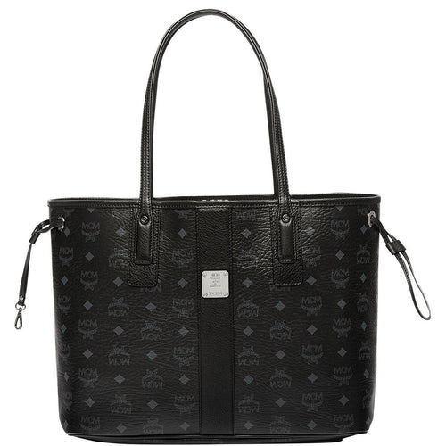 MCM Medium Reversible Liz Shopper, Black-OZNICO