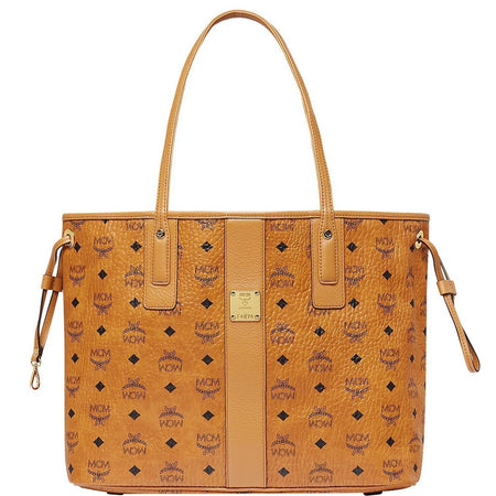 MCM Anya Large Top Zip Shopper, Cognac