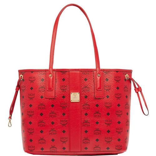 MCM Medium Reversible Liz Shopper, Ruby Red-OZNICO
