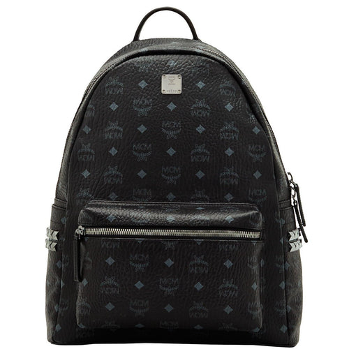 MCM Stark Side Stud Backpack, Black-OZNICO