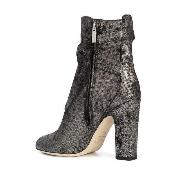 MITCHEL 100 ANKLE BOOT METALLIC WASHED DOTTED SUEDE-OZNICO