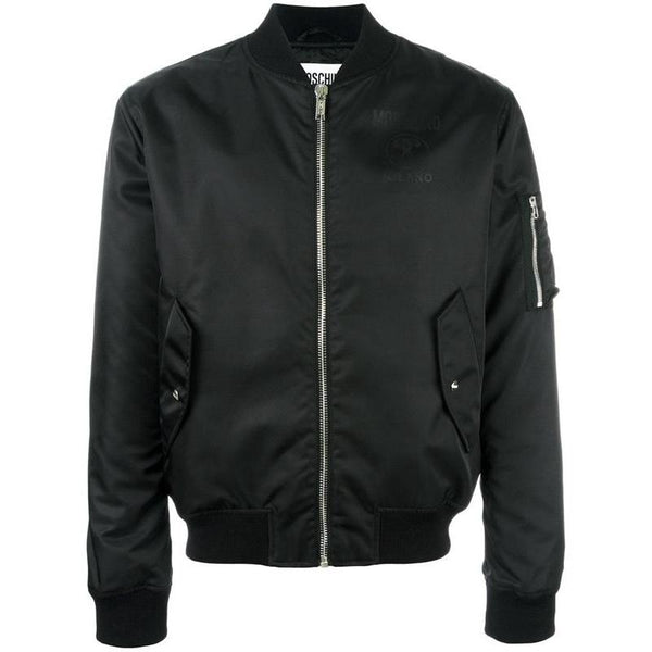 MOSCHINO Bomber Jacket, Black-OZNICO