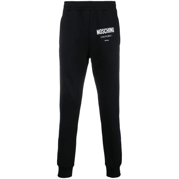 MOSCHINO Couture Logo Sweatpants, Black-OZNICO