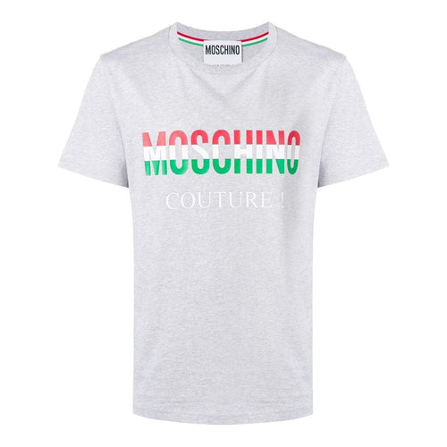 MOSCHINO Couture Logo T-Shirt, Grey-OZNICO