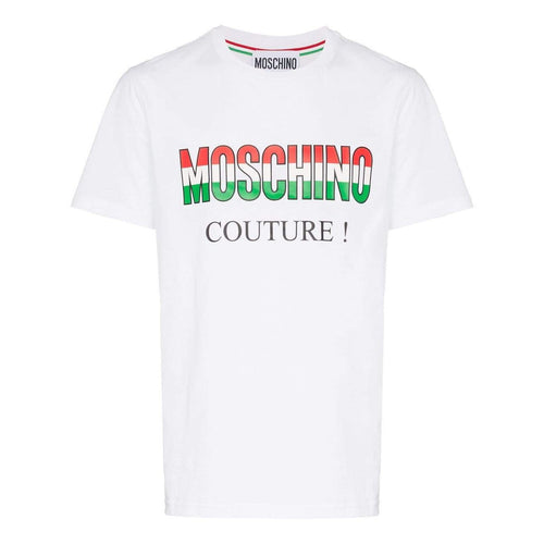 MOSCHINO Couture Logo T-Shirt, White-OZNICO