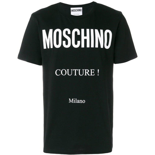 MOSCHINO Couture Milano T-Shirt, Black-OZNICO