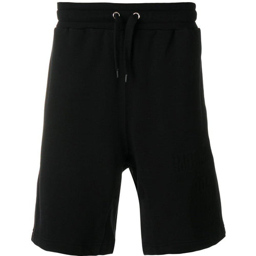 MOSCHINO Drawstring Track Shorts, Black-OZNICO