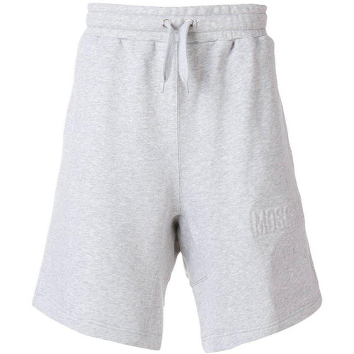 MOSCHINO Drawstring Track Shorts, Grey-OZNICO
