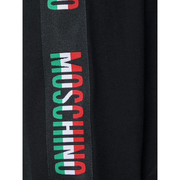 MOSCHINO Logo Band Hooded Sweatshirt, Black-OZNICO
