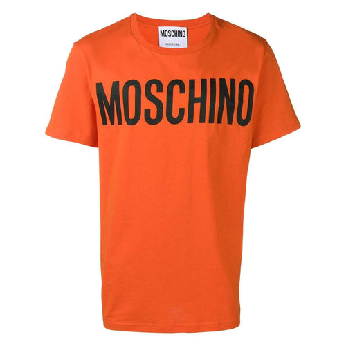 MOSCHINO Logo Print T-Shirt, Orange-OZNICO