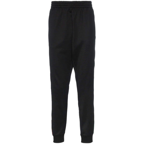 MOSCHINO Logo Side Stripe Track Pants, Black-OZNICO