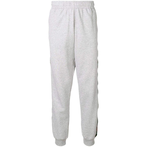 MOSCHINO Logo Stripe Sweatpants, Grey-OZNICO