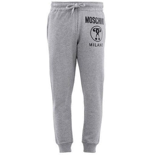 MOSCHINO Logo Sweatpants, Grey-OZNICO