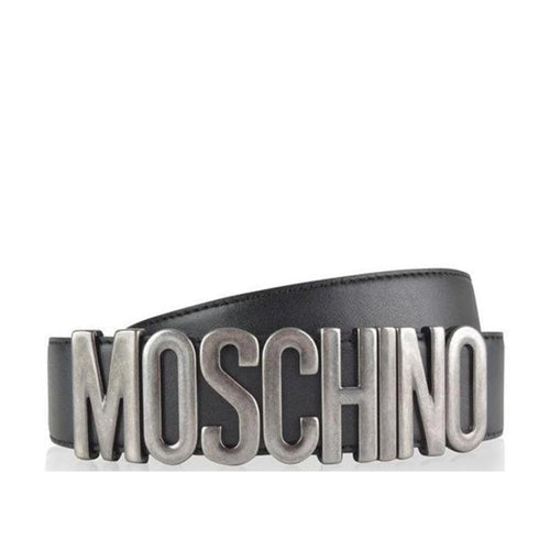 MOSCHINO Men's Belt, Black-OZNICO