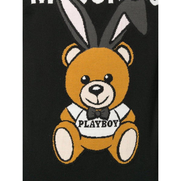 MOSCHINO Playboy Sweater, Black-OZNICO