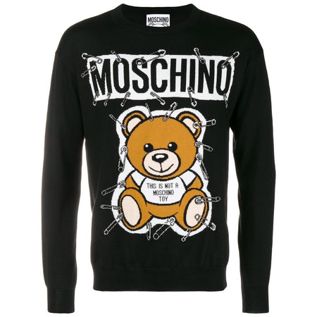 MOSCHINO Logo Hooded Sweatshirt, Grey